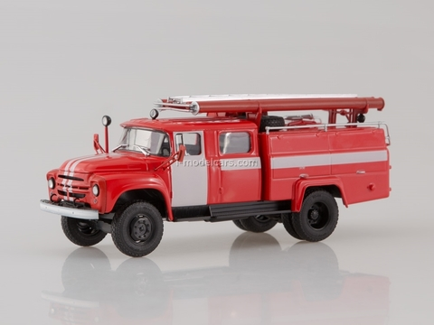 ZIL-130 AC-30(130)63A white stripes  fire engine 1:43 AutoHistory