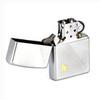 Зажигалка Zippo Flame с покрытием Satin Chrome, латунь/сталь, серебристая, матовая