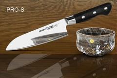 SP-0095/G-10 Нож кухонный Сантоку японский Шеф Samura PRO-S