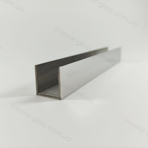 Профиль (швеллер) нержавеющий 15x11x15 мм, L=3 м ST-502-8 PSS полированный