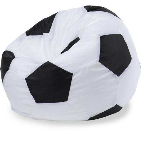 Пуффбери Внешний чехол Кресло-мешок мяч  L, Оксфорд Белый и черный