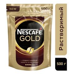 Кофе растворимый Nescafe Gold 500 г (пакет)