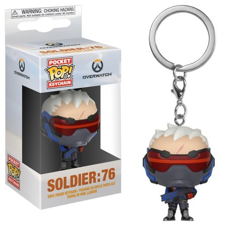 Брелок Funko Pocket POP! Keychain: Overwatch: Soldier 76 32774-PDQ