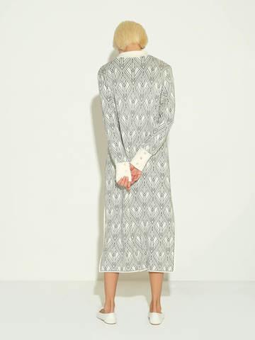 Женское платье молочного цвета из шелка и кашемира - фото 4