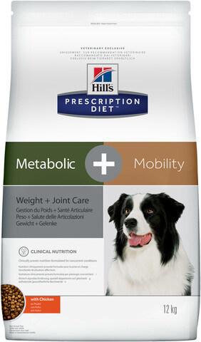 купить хиллс Hill's™ Prescription Diet™ Metabolic + Mobility Weight + Joint Care сухой корм для собак, диетический рацион для коррекции веса и поддержания метаболизма в суставах в случаях остеоартритов  12 кг