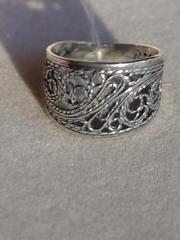Антика широкое (кольцо из серебра)