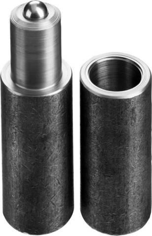 Петля СИБИН для металлических дверей, галтованная, цилиндрической формы, с впрессованным шариком, 25х120мм