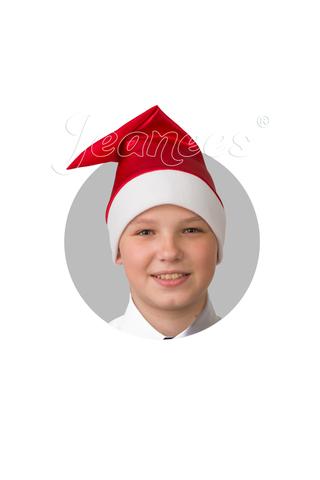 Колпак Деда Мороза (красный сатин)