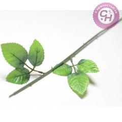 Стебель розы 6 листов, 61 см.