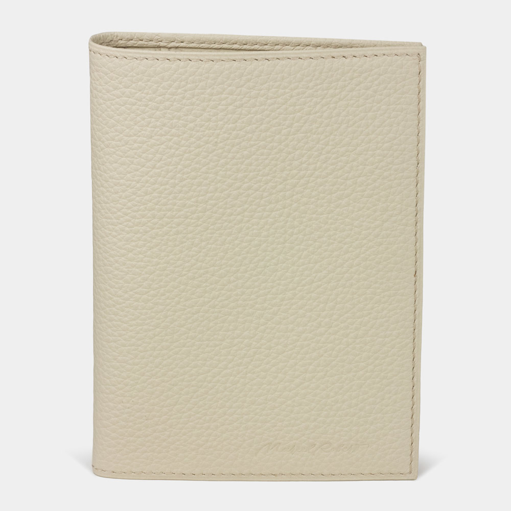 Обложка для паспорта и автодокументов Paris Easy из натуральной кожи теленка, молочного цвета