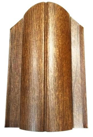 Штакетник металлический 130 мм цвет под дерево