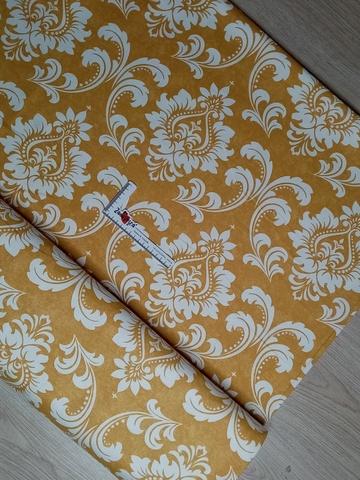 Ткань duck с тефлоновой пропиткой Дамаск Желтый