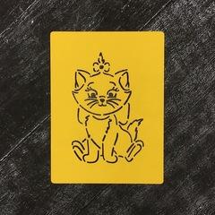Кошка с бантом №4