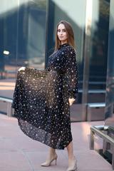 Платье из черного шифона длинное nadya