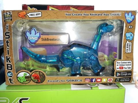 Стикбот динозавр бронтозавр синий JM-11B