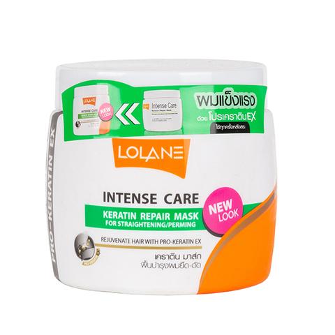 Маска для волос Lolane intense care keratin repair mask for straightening / perming, 200 мл.