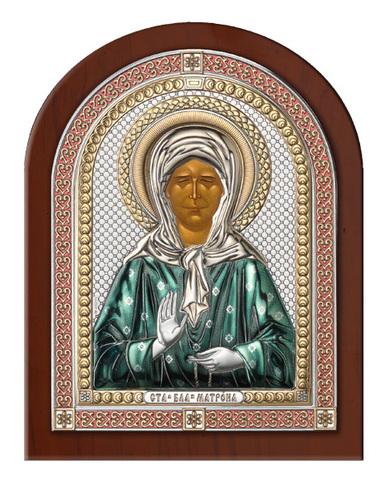 Серебряная икона Святая Матрона в рамке