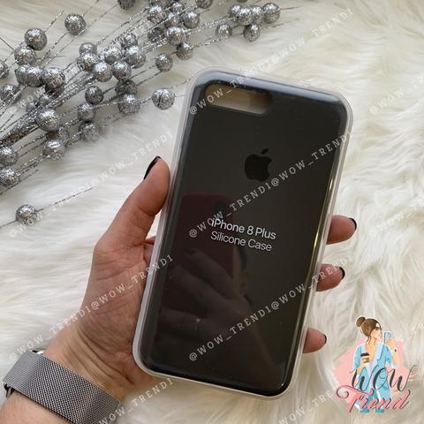 Чехол iPhone 7+/8+ Silicone Case /charcoal grey/ уголь 1:1