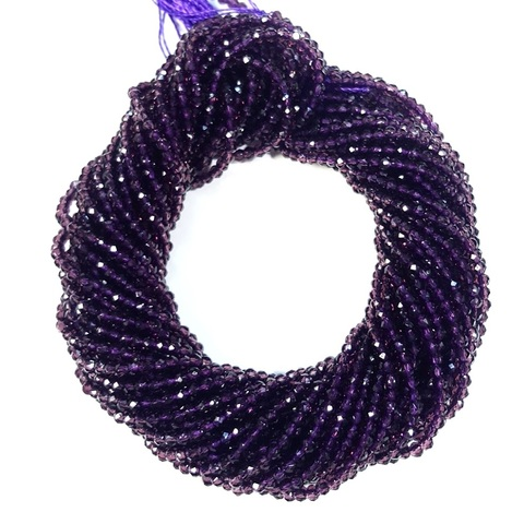 Бусины шпинель (имитация) граненая 2 мм цвет фиолетовый цена за 185 бусин (~37 см)