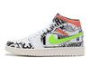 Air Jordan 1 Mid 'Black/White/Multicolor'