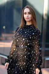 Платье из черного шифона длинное недорого