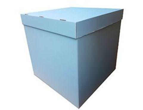 Коробка для воздушных шаров с персональным оформлением голубая