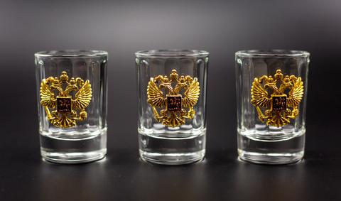 Подарочный набор граненых стопок «Российский-3»
