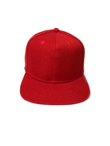 Бейсболка с прямым козырьком, красная