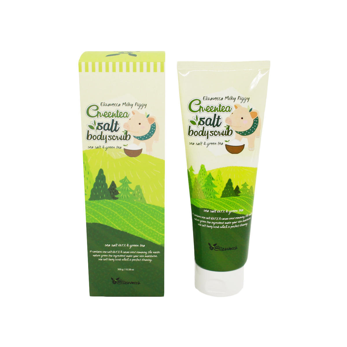 ELIZAVECCA Скраб для тела , ELIZAVECCA,  MIlky Piggy Green Tea Salt Body Scrub (tube), 300 мл import_files_6f_6f7656195abf11e980fb3408042974b1_6f76561a5abf11e980fb3408042974b1.jpg