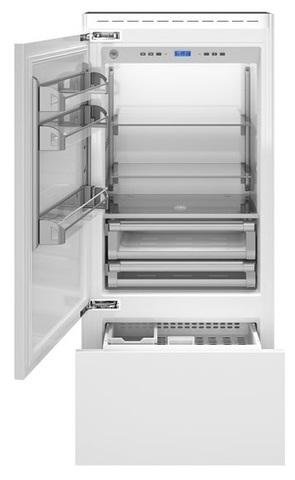 Встраиваемый двухкамерный холодильник Bertazzoni REF90PRL