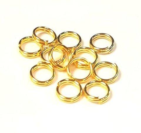 Кольцо двойное 6 мм золото цена за 25 шт