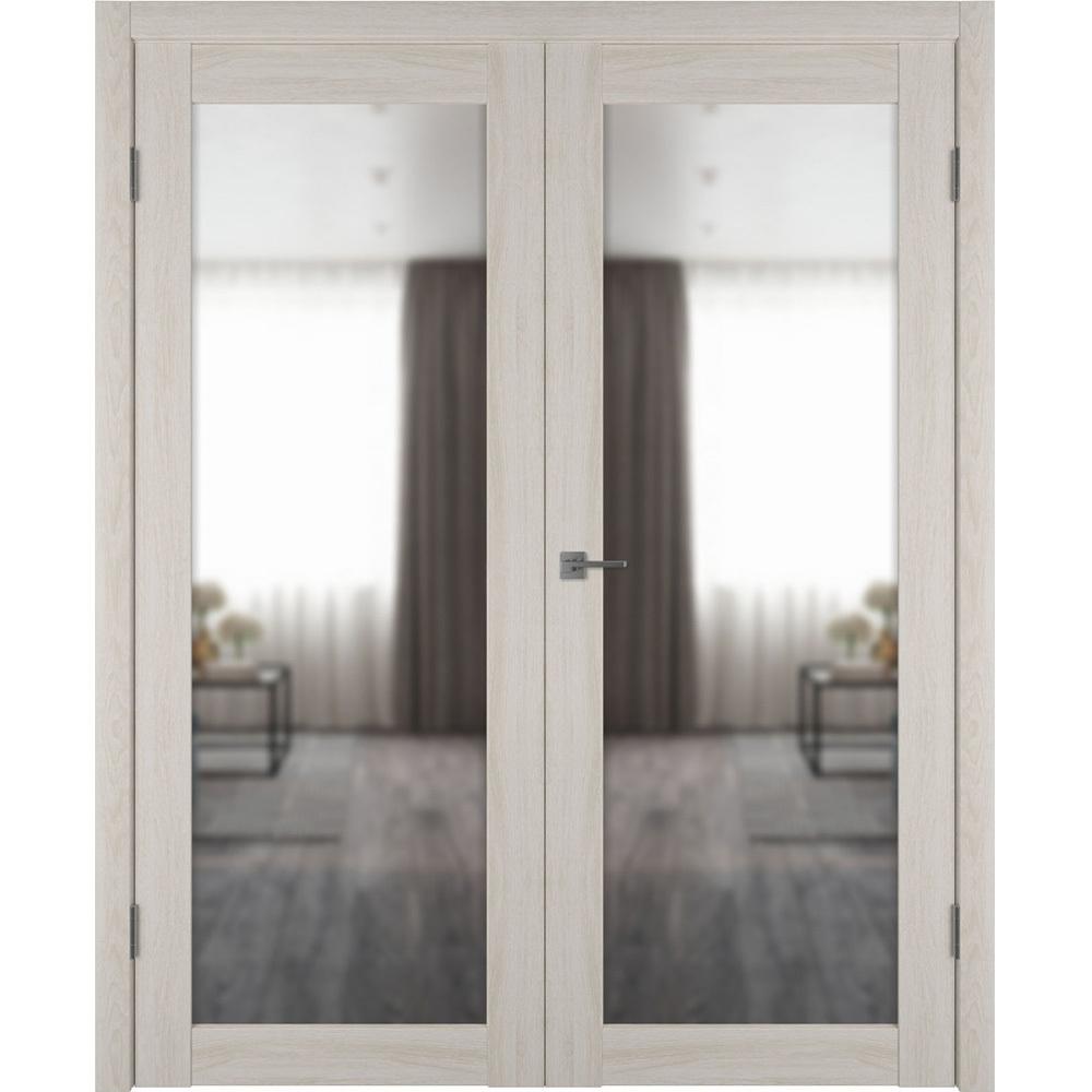 Двери с зеркалом Межкомнатная распашная двустворчатая дверь экошпон VFD 32X scansom oak с зеркалом с одной стороны atum-pro-x32-scanscum-mirror.jpg