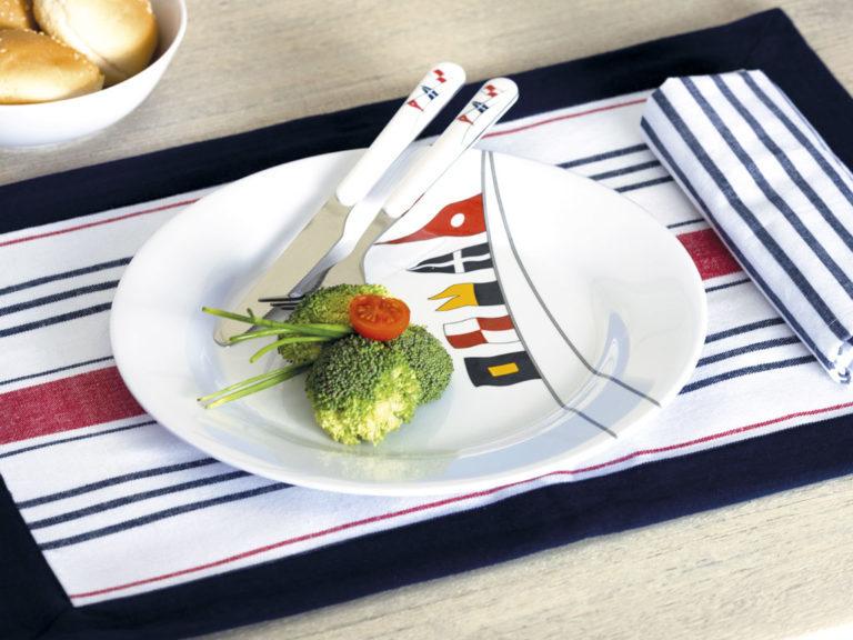 MELAMINE NON-SLIP DINNER PLATE, REGATA 6 UN