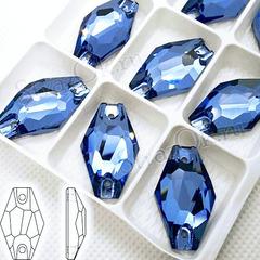 Стразы пришивные купить оптом Denim Blue, Hexagon со скидками