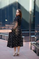 Платье из черного шифона длинное интернет магазин