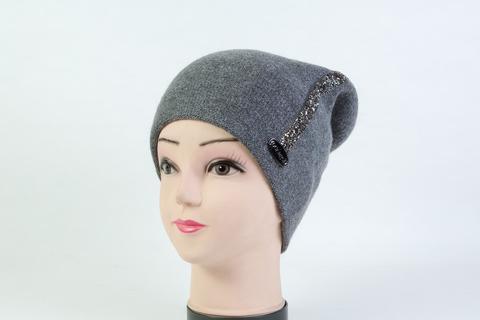 Женская шапка серая SH 7G-90005