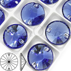 Купить пришивные стразы Denim Blue синие, Rivoli через Алиэкспресс