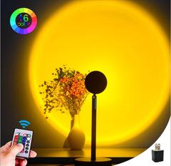 Атмосферный RGB  Проектор Заката Лампа 16 Цветов с пультом управления Sunset Lamp