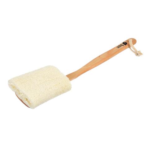 Мочалка из люфы, на деревянной ручке