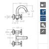 Смеситель для ванны с душевым комплектом и душевым комплектом RS-CROSS 6205MO - фото №2
