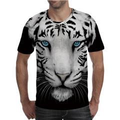 Футболка 3D принт, Тигр (3Д Tiger) 04