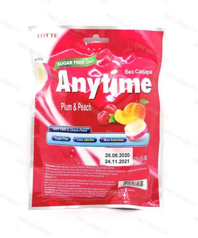Карамель леденцовая Anytime Plum & Peach Lotte, Корея, 74 гр.