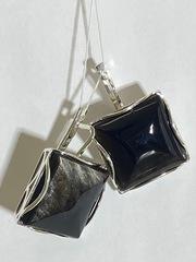 Градэ-агат (серьги из серебра)