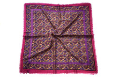 Шерстяной женский фиолетовый платок (0029 PLATOK 8)