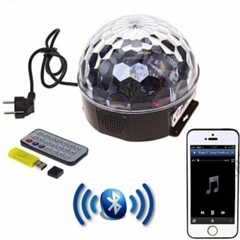 Светодиодный Диско-шар LED RGB Magic Ball Light c Bluetooth с ПДУ и mp3 плеером