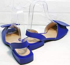 Женские кожаные босоножки на низком ходу Amy Michelle 2634 Ultra Blue.