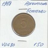 V0680 1988 Аргентина 5 сентаво