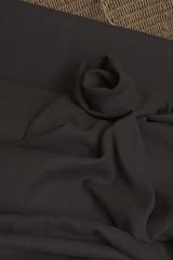Широкая полульняная ткань цвет ГОРЬКИЙ ШОКОЛАД