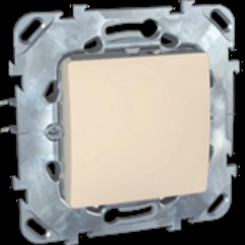 Выключатель одноклавишный проходной - Переключатель одноклавишный. Цвет Бежевый. Schneider electric Unica. MGU5.203.25ZD