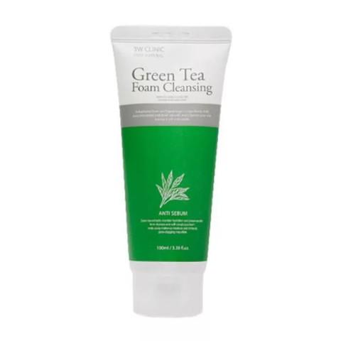 Пенка с экстрактом зеленого чая 3W CLINIC GREEN TEA FOAM CLEANSING (100ml)
